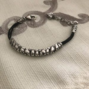 Brighton sterling silver & black bracelet